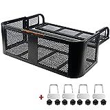 "Ayleid ATV Rear Drop Basket Rack ,with Steel Mesh Surface Detachable Steel Luggage Cargo,for Motorcycle & ATV& UTV(41"" x 14""x 12.6"" )"