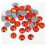 QQINGHAN Rhinestone Flatback mejor cristal Hotfix Rhinestone Glitter Iron On Rhinestones ropa (color: 0023, tamaño: SS8-1440pcs)