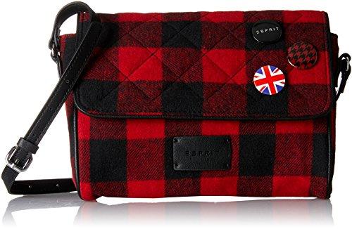 ESPRIT Damen 097ea1o046 Schultertasche, Rot (Red), 5,5x18x24,5 cm