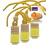 Bolaroma pack 3 ambientadores coche botella 4,5 ml fragancia azahar mandarina