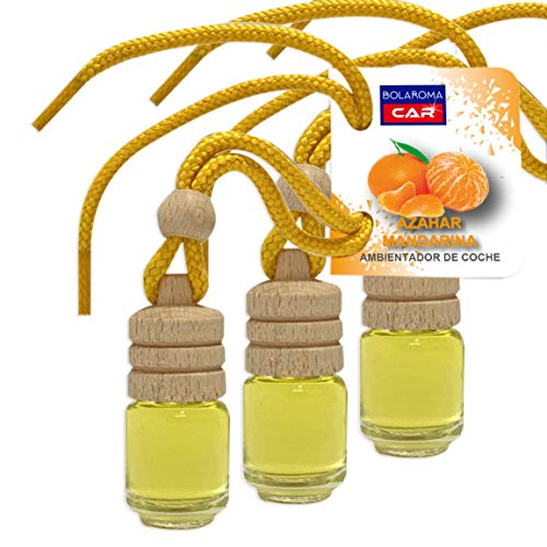 BOLAROMA Pack 3 ambientadores Coche Botella 4,5 ml Fragancia