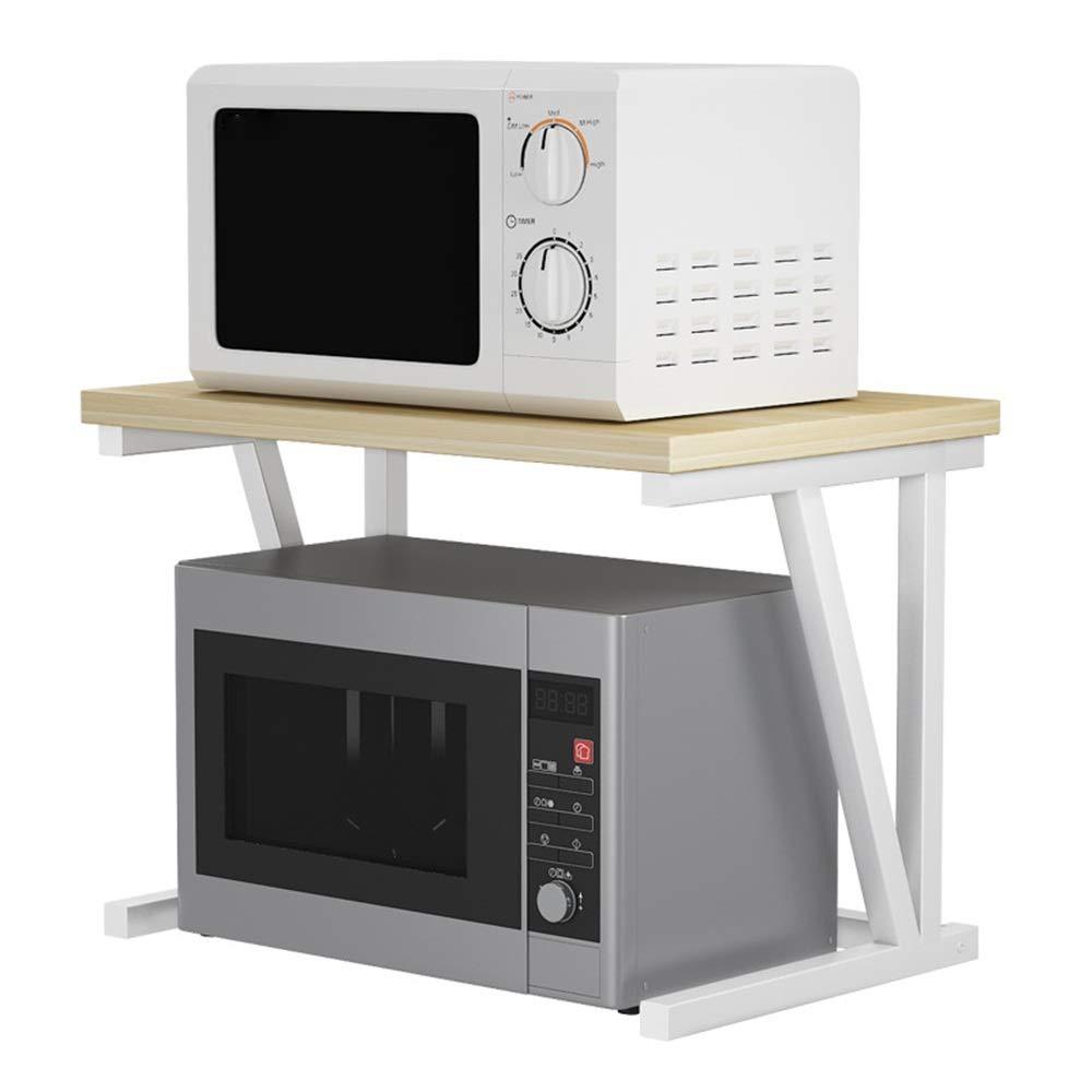 Estante de Horno para microondas Rejilla de horno de microondas Estante de almacenamiento de 2 niveles Unidad for utensilios de cocina Toallas y accesorios Organización del estante del gabinete: Amazon.es: Hogar