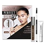 WUNDER2 PERFECT BROW SET- WunderBrow Eyebrow Gel, WunderCleanse & Dual Precision Brush, Auburn