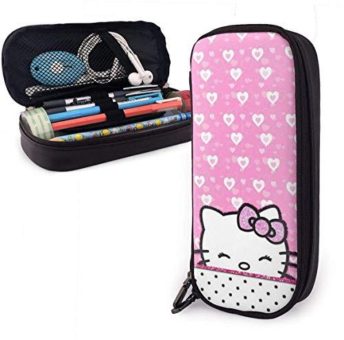 Federmäppchen Hello Kitty Große Kapazität Bleistiftbeutel Make-up Federbeutel Briefpapier mit Doppelreißverschluss Stifthalter für Schule/Büro