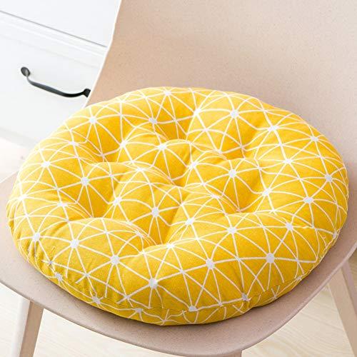 Katoen en linnen ronde stoel pad, ademend pluizig Multi kleur Eettafel stoel Cushioning Thuis