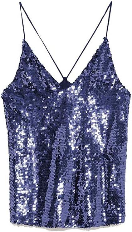 Zara TRF Collection camisa casual con tirantes y lentejuelas ...