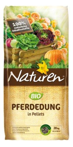 Naturen Bio Pferdedung, Anwendungsfertiger natürlicher Bodenverbesserer und Dünger, 20 kg für bis zu 200 m²