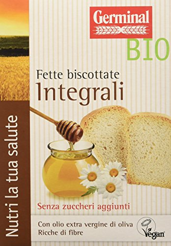 Germinal Bio Fette Biscottate Integrali - 12 confezioni da 200 gr - 2400 gr