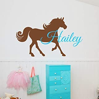 Personalized Horse Wall Decal, Horse Name Decal, Horse Room Decor, Over 30 Colors & Several Sizes