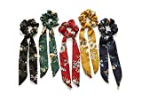 Arnav Elastic Hair Bands Ties Ribbon Scarf Ponytail Holder for Women, Set of