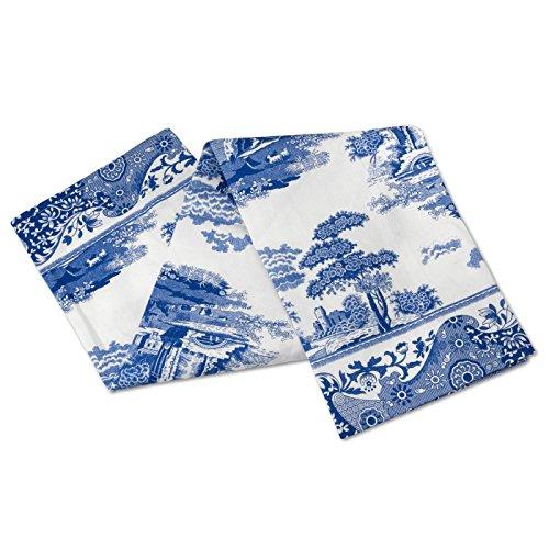Azul Italiano 45x 74cm algodón Toalla de té, Azul/Blanco