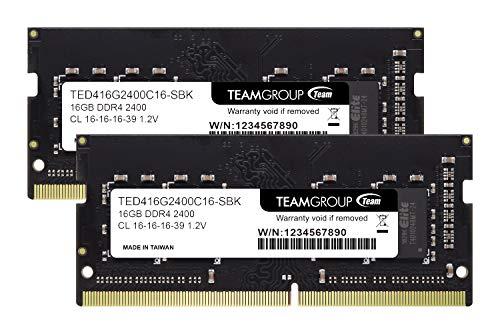 Team ノートPC用 SO-DIMM DDR4 2400MHz PC4-19200 16GBx2枚組 32GBkit 無期限保証