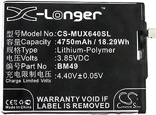 4750mAh Replacement Battery for Xiaomi 2016001, 2016002, 2016007, Hydrogen, Max, Mi Max Dual SIM, Mi Max Dual SIM TD-LTE