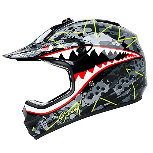 Orthrus Youth/Kid Size High Performance Motocross, ATV, Dirt Bike Helmet(L)