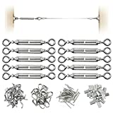 Muzata CK01 series CA1 Heavy Duty Stainless Steel Cable Railing Kits For 1/8