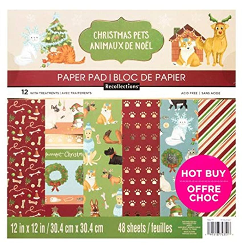 Christmas Pets Scrapbooking Paper Pad by Recollections, 12 x 12