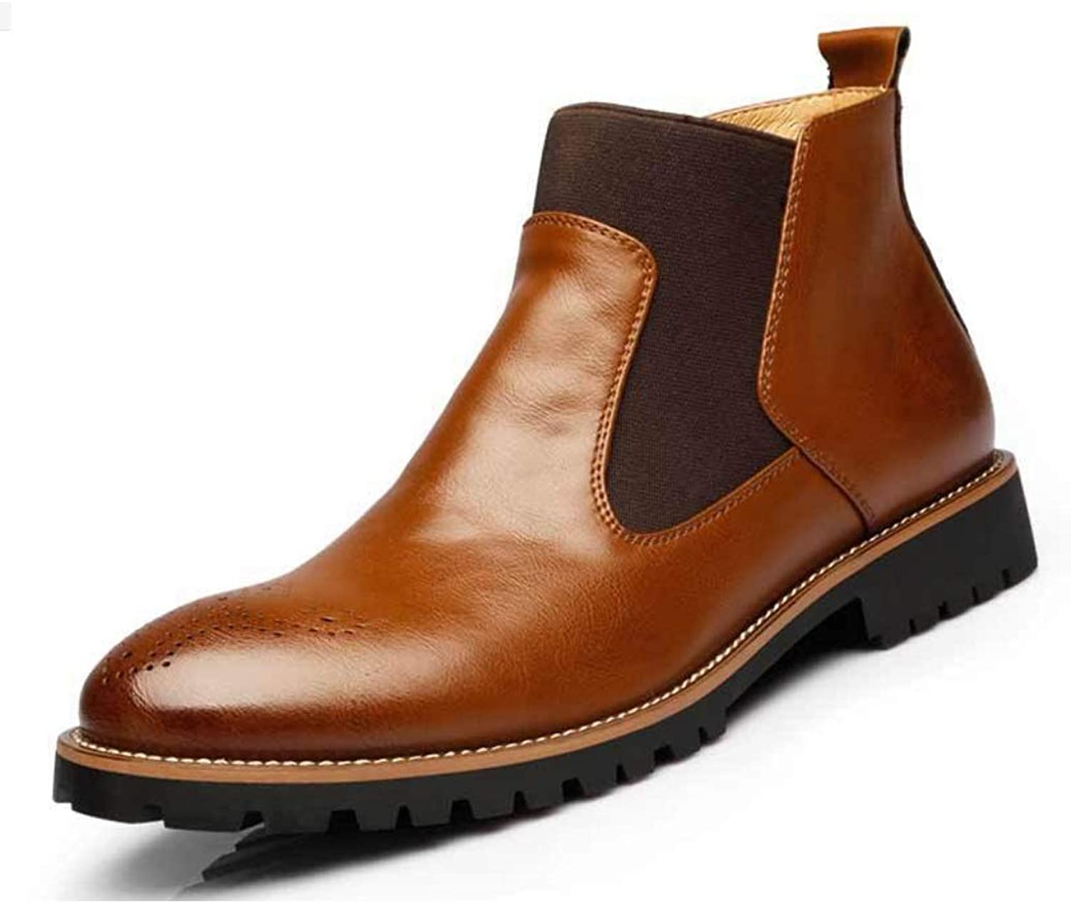 Men's Leather Boots High to Help Men's shoes England Large Size Martin Boots Men's Boots Tooling Boots