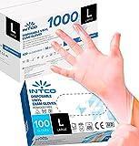 1000 guantes de vinilo desechables sin polvo, sin látex, hipoalergénicos,...