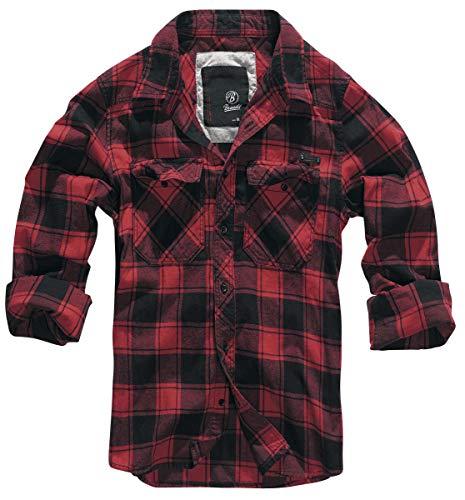 Brandit Textil GmbH Brandit Check Shirt Herren Baumwoll Hemd S Rot/Schwarz