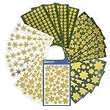 AVERY Zweckform Aufkleber Weihnachten 844 Sternsticker (Weihnachtssticker, Weihnachtspost, selbstklebend, Glitzer, Sternaufkleber gold, Weihnachtsdeko, Basteln, Geschenke, Karten) Art. 51000