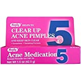 Benzoyl Peroxide 5 % Generic for Oxy Balance Acne Medication Gel. 1.5 oz. per Tube. - Buy Packs and SAVE (Pack of 2)