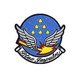 航空自衛隊 ブルーインパルス ソフト ワッペン パッチ Soft Wappen PATCH Blue Impulse エンブレム ロゴ マーク 両面 ベルクロ 付き