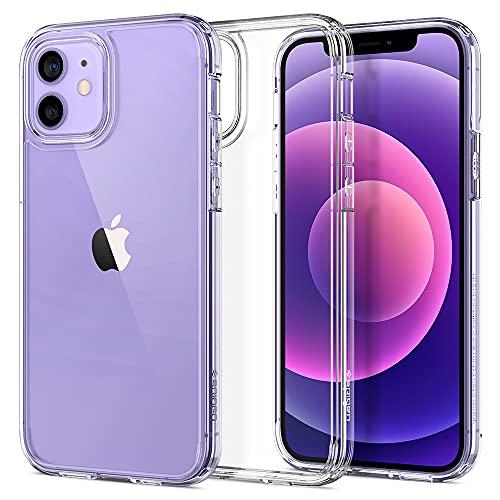 Spigen Ultra Hybrid Hülle Kompatibel mit iPhone 12 Pro und Kompatibel mit iPhone 12 -Crystal Clear