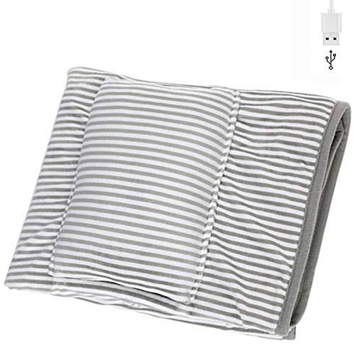 Blanket Heated Shawl USB Cordless Wrap for Women, USB Heating Blanket Throw Electric Shawl Battery Operated, Heated Cape Heating Soft Flannel Lap Blanket - Washable 110x70cm Gray GJXJY
