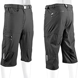 AERO|TECH|DESIGNS Men's Bicycle Commuter Urban Pedal Pusher Knickers 4 Zippered Cargo Pockets, Stretch Woven