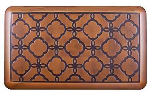 Urvigor Anti Fatigue Comfort Mats Kitchen Floor Mats Standing Mat for Standup Desks, Kitchens and Garages, Antique Light Flower Pattern (20x32x3/4-Inch, Antique)