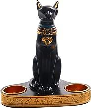 SOIMISS 1 peça de castiçal de faraó egípcio criativo resina dupla - enfeite de candelabro decoração de escritório para casa