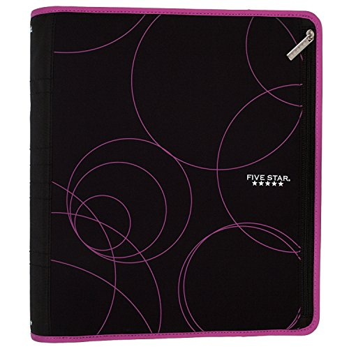 Five Star Zipper Binder, 2 Inch 3 Ring Binder, Xpanz Expandable with Interior Pockets, Berry Circles (73230) Photo #5