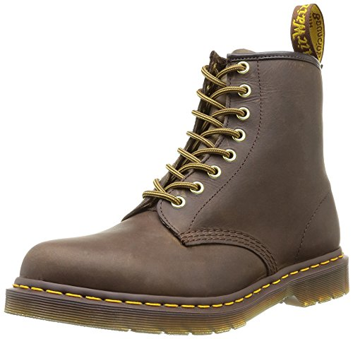 Dr. Martens 1460 Milled Smooth, Scarpe Stringate Basse Brogue Unisex-Adulto, Marrone (Aztec), 44
