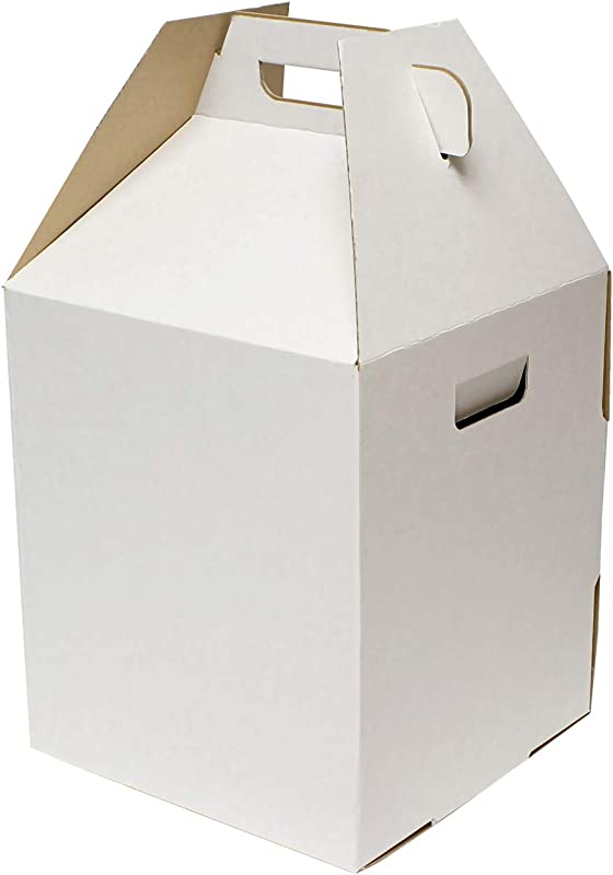 Special T Disposable Cake Carrier Tall Cake Caddy 2 Or 3 Layer Cake Carrier 16 Inch Tall 14x14 Cake Box 10 Pack