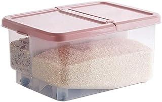 LLRYN 42cm Cuisine Riz Boîte de Rangement Grain Container Cuisine Organisateur Grande Farine de Riz en Plastique Boîtes po...