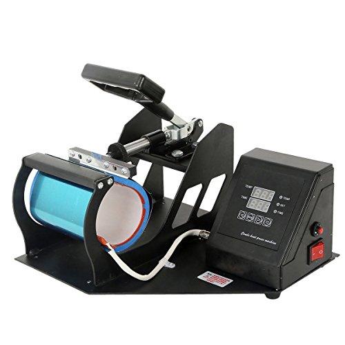 TC-Home New Heat Press Transfer Sublimation Machine for Cup Coffee Mug Dual Digital Display 350W