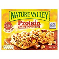 (Nature Valley (自然の渓谷)) タンパク質塩漬けキャラメル4×40グラム (x2) - Nature Valley Protein Salted Caramel 4 x 40g (Pack of 2) [並行輸入品]