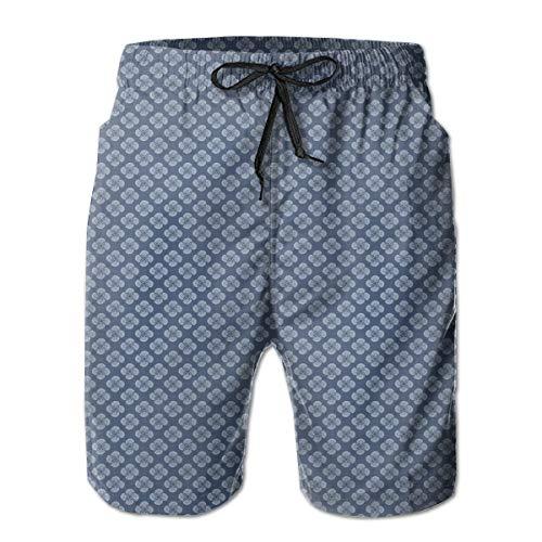 Men's Big and Tall Swim Trunks Beachwear Drawstring Summer Holiday,Simplistic Pattern of Spiral Element Ornamental Whirlpool Look,3D Print Shorts Pants