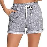 Hawiton Pantalones Cortos para Mujer Pantalones Deportivos de Algodón Casual Verano Fitness Jogging