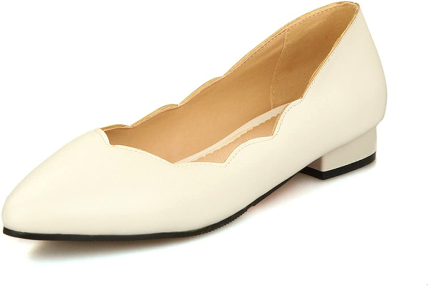 Cuckoo Ladys Elegant Low Heel Pointed Toe Pumps Patent PU Leather Court shoes