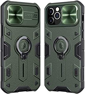 Nillkin® iPhone 12 Pro Max CamShield Armor Case with Slide Camera Cover, Impact-Resistant Bumpers Protective Case with Rin...
