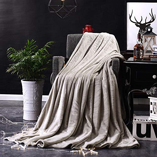 Coperta morbida - tante dimensioni e colori diversi - coperta in microfibra da soggiorno copriletto copri divano - vello in microfibra di flanella -Grigio argento_150 * 200 cm.