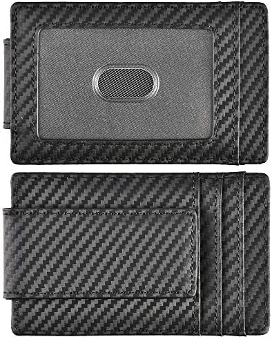 Money Clip Front Pocket Wallet Leather RFID Blocking Strong Magnet thin Wallet product image