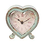Sass & Belle Boudoir Heart Clock Duck Egg