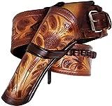 Modestone 357/38 Left Cross Draw High Ride/Rise Holster Cinturón con Pistolera Leather 48
