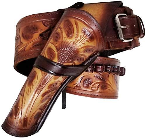 Modestone 357/38 Left Cross Draw High Ride/Rise Holster Ceinture Pistolet Leather 36