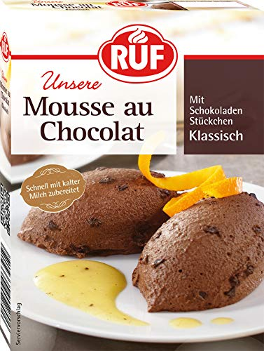 RUF Mousse Au Chocolat ohne Kochen, 12er Pack (12 x 100 g Packung)
