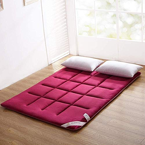 LUGEUK Colchón Tatami Tatami Tatami, 1,5 M 1.8 M Colchón Plegable Antideslizante, colchón de Franela, colchón Plegable y Enrollable, Transpirable y Duradero (Color : A, Size : 120x200cm)