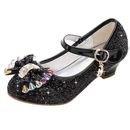 FRAUIT Scarpe Con Tacco Bimba Principessa Carnevale Mary Jane Scarpe Bambina Eleganti Ceremonia Per Feste O Battesimi Ragazze Sandalo Sandali Paillettes Glitter Latino