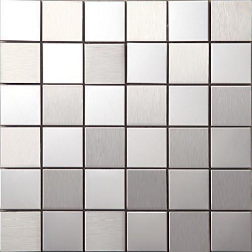 Art Deco metallo mosaico acciaio inossidabile Mosaico muro 3 opzioni di colore300*300mm--Cucina Backsplash/Parete da bagno/decorazione domestica(SA007)